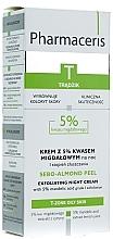 Düfte, Parfümerie und Kosmetik Exfolierende Nachtcreme mit 5% Mandelsäure - Pharmaceris T Sebo-Almond-Peel Exfoliting Night Cream