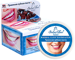 Düfte, Parfümerie und Kosmetik Fluoridfreie natürliche und aufhellende Zahnpasta mit Nelkenöl - Sabai Thai Herbal Clove Toothpaste
