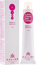 Düfte, Parfümerie und Kosmetik Professionelle Cremehaarfarbe mit Keratin und Arganöl - Kallos Cosmetics Cream Hair Colour