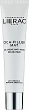 Düfte, Parfümerie und Kosmetik Regenerierendes Anti-Falten Gesichtscreme-Gel für normale und Mischhaut - Lierac Cica-Filler Mat Anti-Wrinkle Repairing Cream-Gel