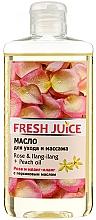 Düfte, Parfümerie und Kosmetik Pflege- und Massageöl für den Körper mit Rose, Ylang-Ylang und Pfirsichöl - Fresh Juice Energy Rose&Ilang-Ilang+Peach Oil