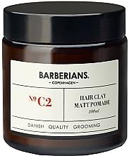 Düfte, Parfümerie und Kosmetik Tonpomade zum Haarstyling - Barberians. №C2 Hair Clay Matt Pomade