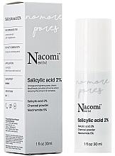 Düfte, Parfümerie und Kosmetik Gesichtsserum gegen Unvollkommenheiten mit 2% Salicylsäure, Aktivkohle und Vitamin B3 - Nacomi Next Level Salicylic Acid 2%
