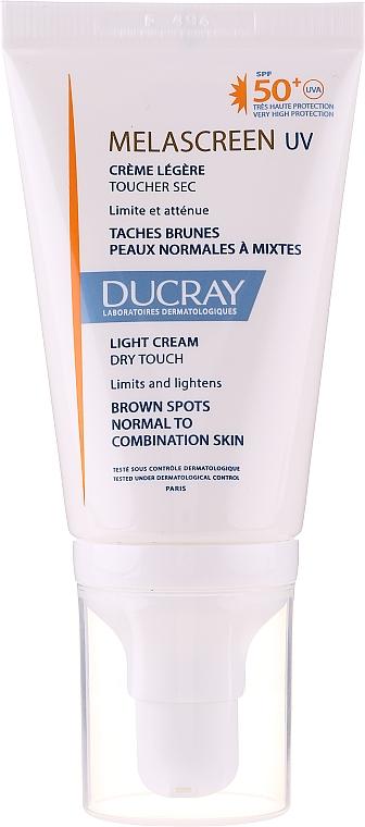 Leichte Sonnenschutzcreme gegen braune Flecken für normale und Mischhaut SPF 50+ - Ducray Melascreen UV Light Cream SPF 50+