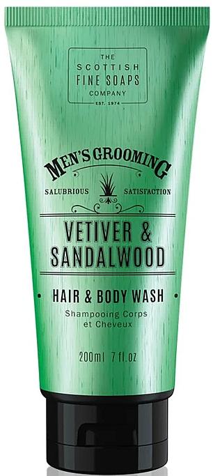2in1 Shampoo und Duschgel mit Vetiver und Sandelholz - Scottish Fine Soaps Vetiver & Sandalwood Hair Body Wash