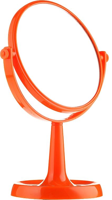 Kosmetikspiegel mit Ständer 85734 rund 15,5 cm orange - Top Choice Colours Mirror