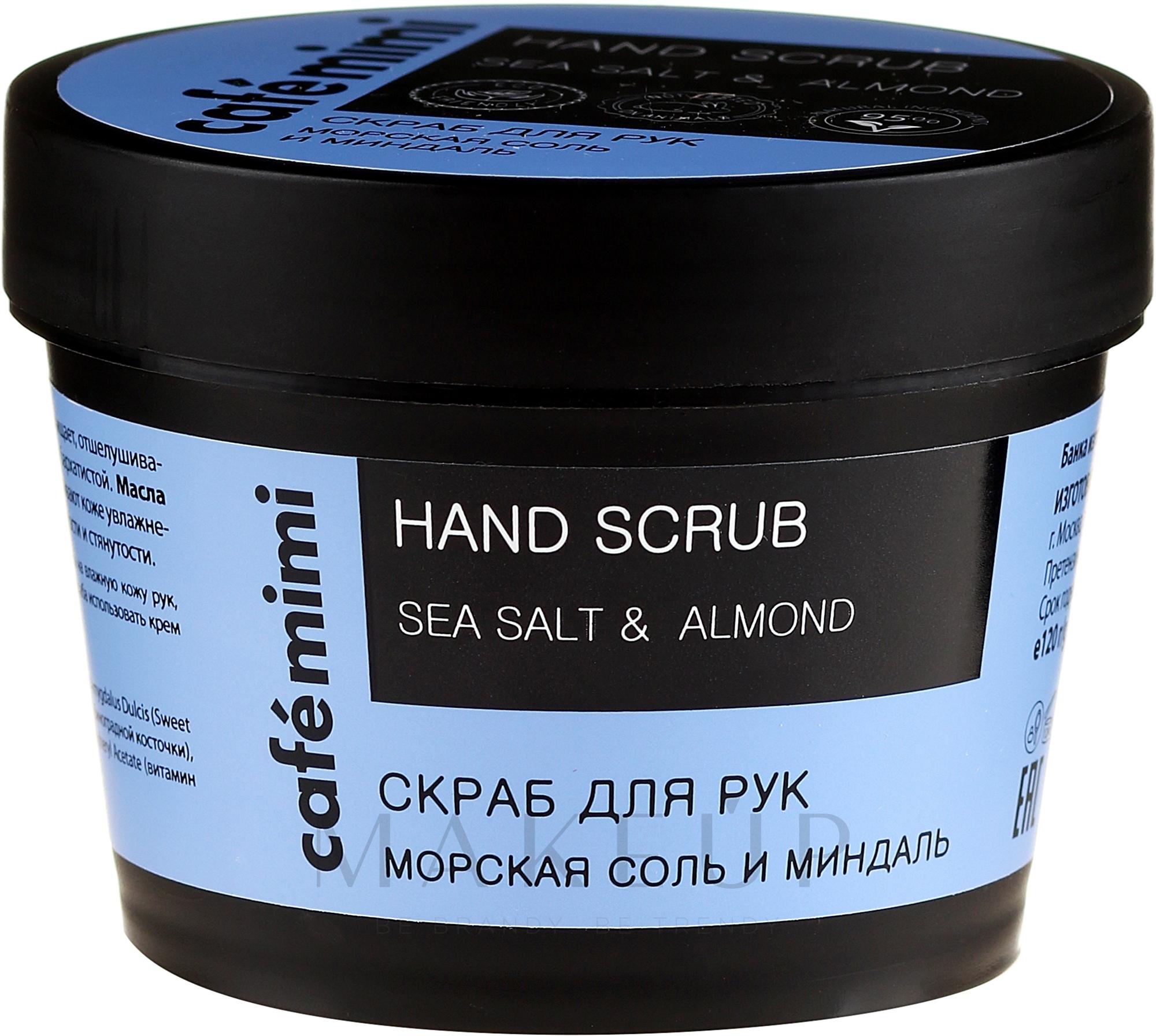 Handpeeling mit Meersalz und Mandel - Cafe Mimi Hand Scrub — Bild 120 g