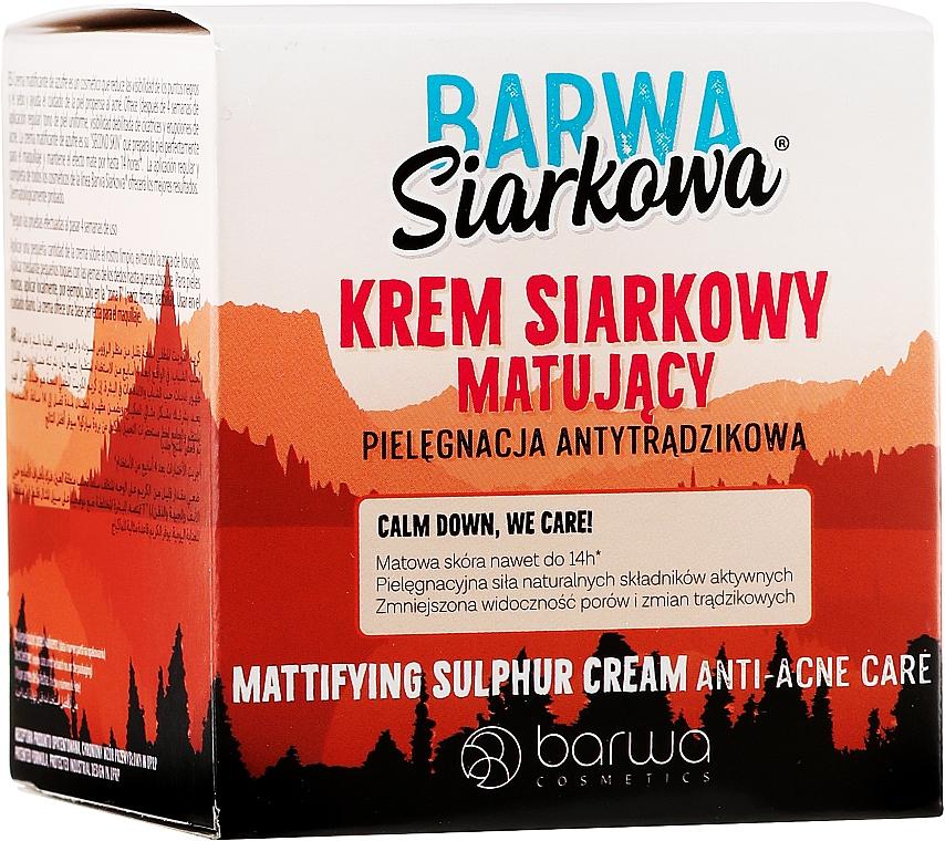 Mattierende Gesichtscreme mit Schwefel - Barwa Anti-Acne Cream Sulfuric — Bild N1