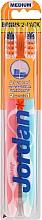 Düfte, Parfümerie und Kosmetik Zahnbürste mittel Advanced rosa, blau 2 St. - Jordan Advanced Medium