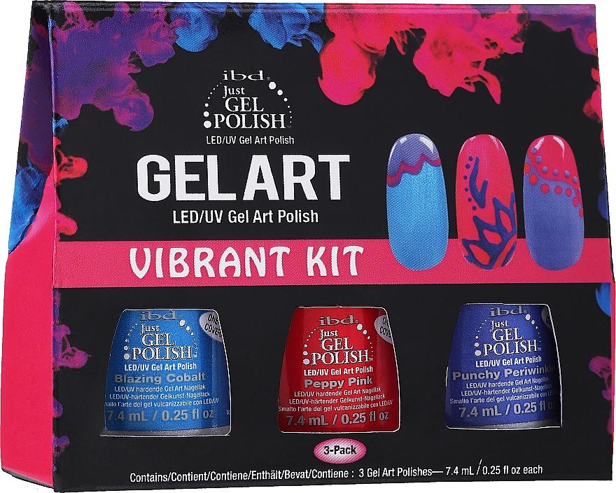 Nagellack-Set - IBD Gel Art Vibrant Kit (Nagellack 3 x 7,4ml)