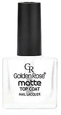 Mattierender Nagelüberlack - Golden Rose Matte Top Coat