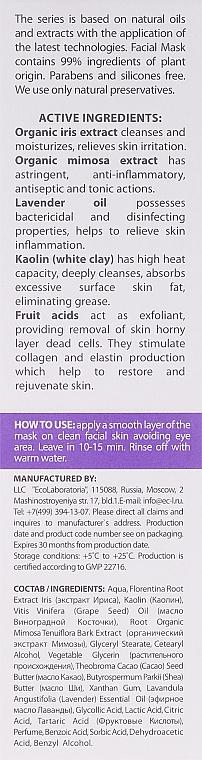 Gesichtsreinigungsmaske - ECO Laboratorie Cleansing Facial Mask With Fruit Acids — Bild N3
