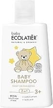 Düfte, Parfümerie und Kosmetik 2in1 Entwirrendes Shampoo für Babys mit Baumwollextrakt und Milchsäure - Ecolatier Baby Shampoo 2 in 1 Easy Detangling