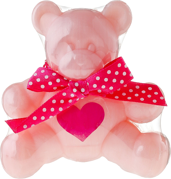 Glycerinseife für Kinder mit süßem Rosenduft Bärchen - Chlapu Chlap Glycerine Soap