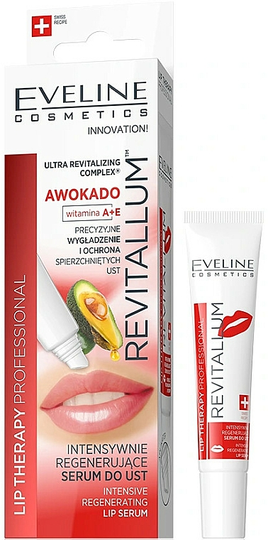 Intensiv regenerierendes Lippenserum mit Avocado und Vitamin A und E - Eveline Cosmetics Lip Therapy Professional Awocado Intensive Lip Serum