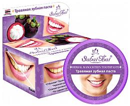 Düfte, Parfümerie und Kosmetik Fluoridfreie natürliche und aufhellende Zahnpasta mit Mangostan-Extrakt - Sabai Thai Herbal Mangosteen Toothpaste