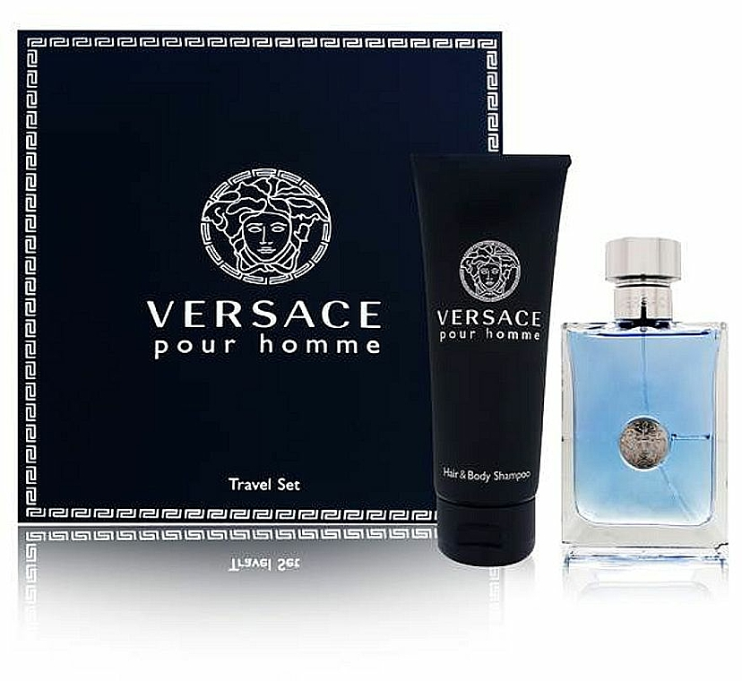 Versace Versace Pour Homme - Duftset (Eau de Toilette/100ml + 2in1 Shampoo/150ml)