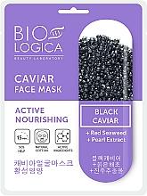 Düfte, Parfümerie und Kosmetik Aktiv nährende Tuchmaske für das Gesicht mit schwarzem Kaviar - Biologica Caviar