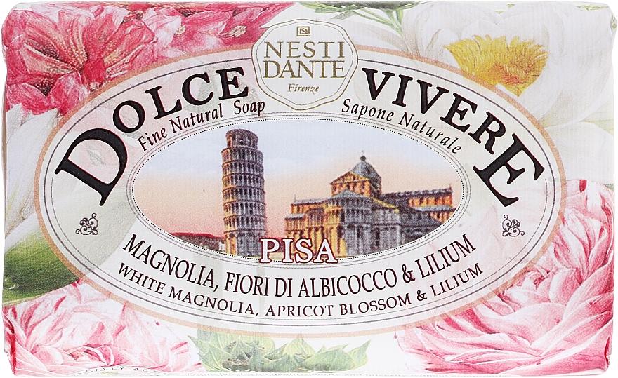 Naturseife Pisa - Nesti Dante Natural Soap White Magnolia, Apricot Blossom & Lilium Dolce Vivere Collection