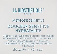 Düfte, Parfümerie und Kosmetik Entspannende feuchtigkeitsspendende und regenerierende Gesichtscreme für empfindliche und dehydrierte Haut - La Biosthetique Douceur Sensitive Hydratante Cream