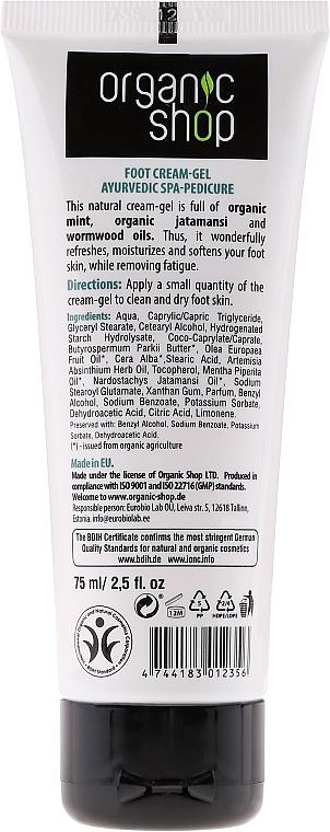 Creme-Gel für die Fußpflege mit Bio Minze und Wermutöl - Organic Shop Foot Cream Cold Care — Bild N2