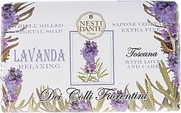 Düfte, Parfümerie und Kosmetik Naturseife Tuscan Lavender - Nesti Dante Relaxing Soap Dei Colli Fiorentini Collection