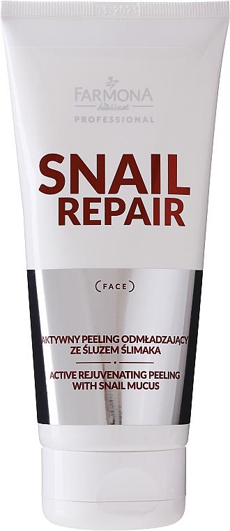 Aktiv verjüngendes Gesichtspeeling mit Schneckenschleim - Farmona Professional Snail Repair Active Rejuvenating Peeling With Snail Mucus