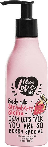 Pflegende Körpermilch mit Erdbeere - MonoLove Bio Strawberry Sicilia Body Milk