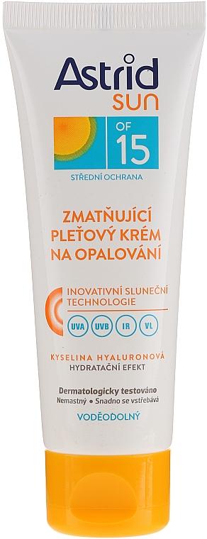 Feuchtigkeitsspendende Sonnenschutzcreme für das Gesicht SPF 15 - Astrid Sun Moisturizing Suncare Face Cream SPF 15 — Bild N1