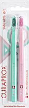 Düfte, Parfümerie und Kosmetik Zahnbürste ultra weich 5460 Retro Edition hellrosa, Minze 2 St. - Curaprox