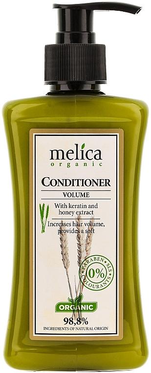 Haarspülung für mehr Volumen mit Keratin und Honig-Extrakt - Melica Organic Volume Conditioner