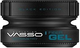 Düfte, Parfümerie und Kosmetik Stylinggel für das Haar - Vasso Professional Hair Styling Wax Fiber Gel Black Edition Asymmetry