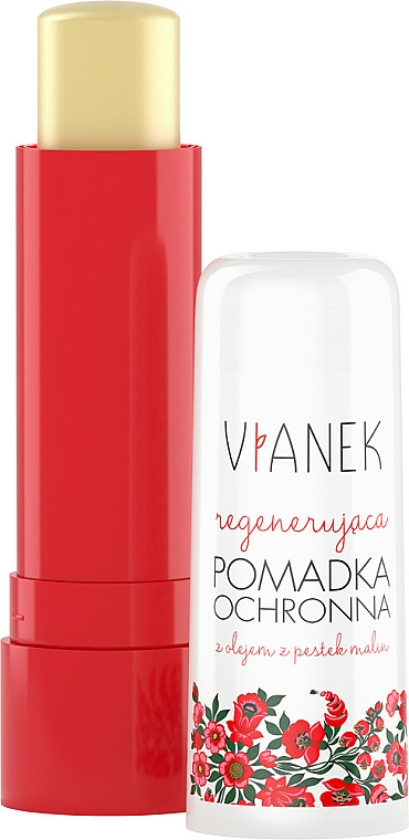 Regenerierender Lippenbalsam mit Himbeersamenöl - Vianek Lip Balm