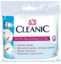 Düfte, Parfümerie und Kosmetik Wattestäbchen in Polyethylen-Verpackung 100 St. - Cleanic Face Care Cotton Buds