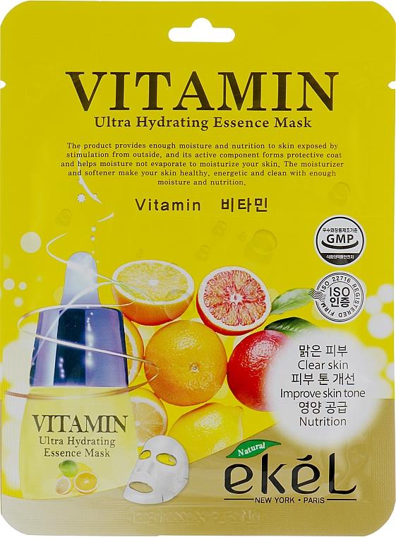 Tuchmaske für das Gesicht mit Vitaminen - Ekel Vitamin Ultra Hydrating Mask