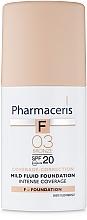 Düfte, Parfümerie und Kosmetik Flüssige Foundation SPF 20 - Pharmaceris F Intense Coverage Mild Fluid Foundation SPF20