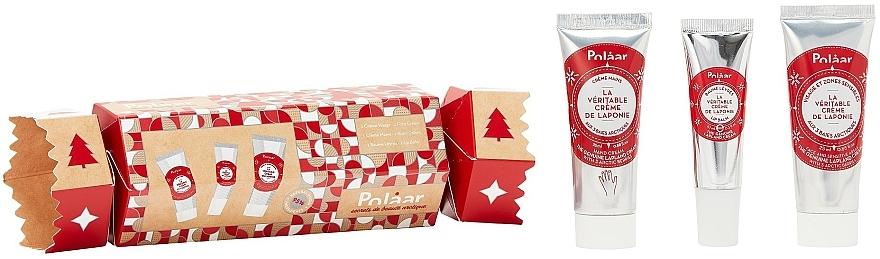 Gesichtspflegeset - Polaar Christmas 2020 Lapland Cracker Gift Set (Handcreme Mini 25ml + Lippenbalsam 10ml + Gesichtscreme Mini 25ml) — Bild N1