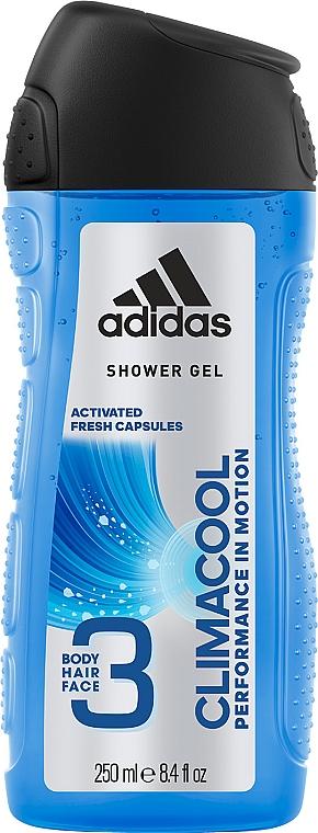 3in1 Feuchtigkeitsspendendes Duschgel für Körper, Haar und Gesicht - Adidas Climacool 3in1 Shower Gel Body&Hair&Face