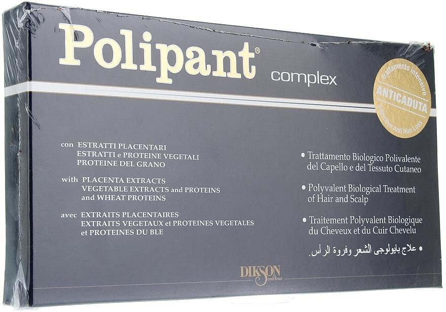 Heilbringende Ampullen für Kopfhaut und Haar  mit Weizenprotein, Plazenta- und Pflanzenextrakten  - Dikson Polipant Complex