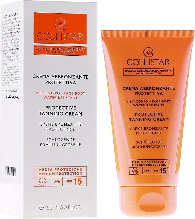 Sonnenschutzcreme für Gesicht und Körper - Collistar Crema Abbronzante Protettiva Media SPF15 — Bild N2
