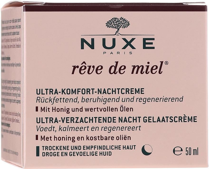 Beruhigende und regenerierende Nachtcreme für trockene und empfindliche Haut - Nuxe Reve De Miel Ultra Comfortable Face Night Cream — Bild N1