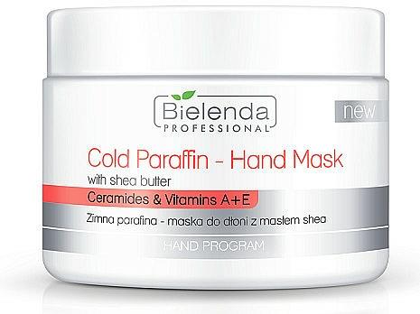 Kalte Paraffinmaske für Hände mit Sheabutter, Ceramiden und Vitaminen - Bielenda Professional Cold Paraffin Hand Mask With Shea Butter (400 g)