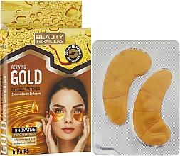 Düfte, Parfümerie und Kosmetik Augen Gel-Pads - Beauty Formulas Reviving Gold Eye Gel Patches