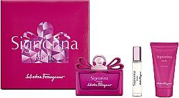 Düfte, Parfümerie und Kosmetik Salvatore Ferragamo Signorina Ribelle - Duftset (Eau de Parfum 100ml + Eau de Parfum 10ml + Körperlotion 50ml)