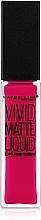 Düfte, Parfümerie und Kosmetik Flüssiger Lippenstift - Maybelline Color Sensational Vivid Matte Liquid