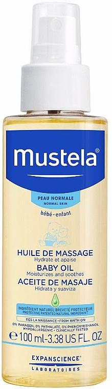 Massageöl für Babys mit Avocado-, Sonnenblumen- und Granatapfelkernöl - Mustela Bebe Massage Oil
