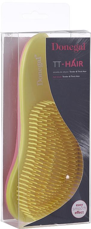 Haarbürste 1218 gelb-rosa - Donegal TT-Hair — Bild N1