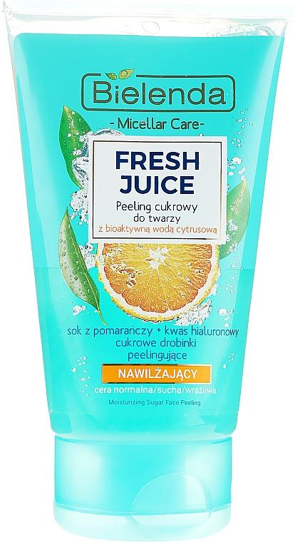 Feuchtigkeitsspendendes Zuckerpeeling für Gesicht mit Orange - Bielenda Fresh Juice Peel