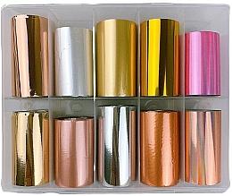 Düfte, Parfümerie und Kosmetik Transferfolien-Set zum Nageldesign MIX 1 - Deni Carte