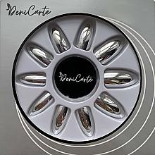 Düfte, Parfümerie und Kosmetik Künstliche Nägel mit Spiegeleffekt 42411 silber - Deni Carte
